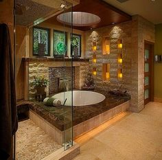 10 Tips for Japanese Bathroom Design, 20 Asian Interior Design Ideas Asian bathroom design is about ultimate relaxation Beautiful Bathrooms, House Design, Home, Asian Bathroom, Spa Like Bathroom, Bathroom Design Inspiration, House, Asian Interior Design, New Homes
