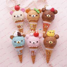 Re-Ment Rilakkuma Ice Cream Charm 6 Colors 10% OFF