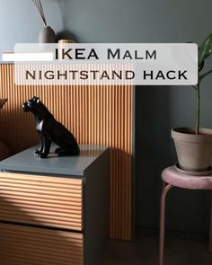 Ikea Malm Drawers, Ikea Malm Nightstand, Bedside Table Ikea, Malm Bed, Diy Furniture Projects, Furniture Makeover, Ikea Malm Series, Malm Hack, Ikea Hacks