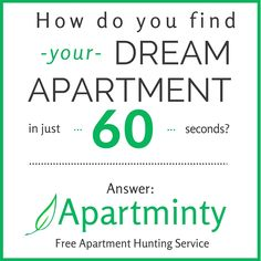 Apartminty Is A Free Apartment Hunting Service That Provides Exact Apartment  Matches Via Email | Apartment