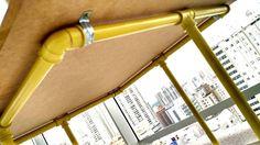 mesa amarela diy - madeira e pvc - mesas feito ã mão