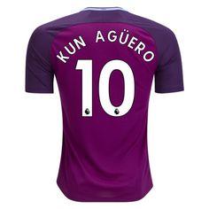 Nike Sergio Kun Aguero Manchester City Away Jersey 17/18
