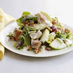 Chicken Waldorf Salad - a fully loaded - but skinny - salad.  All the cheesy, crunchy extras you get at California Pizza Kitchen, with half the calories