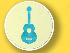 Guitar. Musical Instrument Cross Stitch PDF Pattern. $2.50, via Etsy.