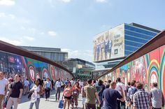 A lot of Colors... Crowds on their way into Westfield shopping centre at London 2012 Olympic site at Stratford by GlenPearson75, via Flickr