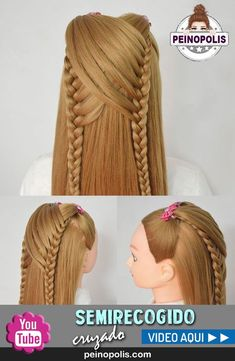 hairstyles to the back hairstyles for 13 year olds hairstyles for 4 year olds updo hairstyles for black hair 2018 braided hairstyles 2018 hairstyles little girl hairstyles two braids hair vector Fast Hairstyles, Little Girl Hairstyles, Braided Hairstyles, Hairstyles 2018, Braided Updo, Haircuts, Curly Hair Styles, Natural Hair Styles, One Step