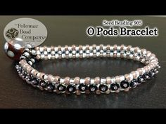 Make an O Pods Bracelet. This video from The Potomac Bead Company teaches you how to make our O Pods bracelet, using your choice of Czech pressed O beads, and Miyuki seed beads. Seed Bead Bracelets Tutorials, Bead Loom Bracelets, Beading Tutorials, Free Tutorials, Macrame Bracelets, Beaded Anklets, Beaded Earrings, Jewelry Patterns, Bracelets