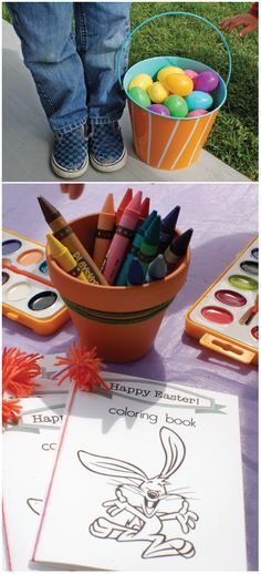 Make a simple kid's color book to keep the kid's busy during Easter brunch. It's a great Easter activity to have for the kids before or after an Easter Egg hunt!