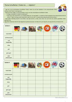 Wie findest du - Deutsch Daf Arbeitsblatter German, Map, Test Taking, German Grammar, Picture Cards, Elementary Schools, Deutsch, German Language, Maps