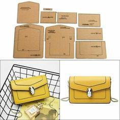 Wallet Sewing Pattern, Leather Wallet Pattern, Leather Diy Crafts, Leather Craft, Handmade Leather, Bag Patterns To Sew, Sewing Patterns, Leather Bag Tutorial, Men Clutch Bag