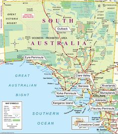 Map Of Australia With Territories, Welcome To Our South Australia Map Please Feel Free To Use Our Map Of South Australia For Your Holiday And Travel Purposes, Map Of Australia With Territories