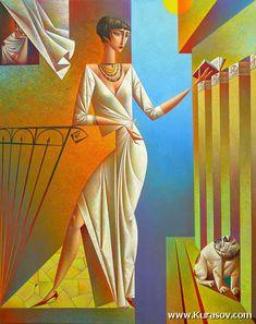 The world of Mary Antony: Georgy Kurasov - Cubism Cubist Artists, Cubism Art, Art Deco Posters, Black Women Art, Russian Art, American Artists, Art Forms, Female Art, Book Art
