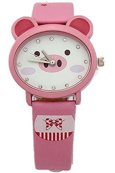 Kezzi Kids' Girls Wrist Watches K666 Quartz Analog Lovely Cartoon Pig Leather Strap Watch Pink Kezzi http://www.amazon.com/dp/B00P25JXTC/ref=cm_sw_r_pi_dp_P.Xkvb04NBSH6