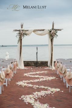 One of the main decor elements for an outdoor wedding is an arch, and it's very important for a beach affair as your arch not only highlights the style but also set off the ocean behind. A beach wedding arch is tradit. Beach Wedding Guests, Beach Wedding Decorations, Ceremony Decorations, Beach Weddings, Outdoor Weddings, Arch Decoration, Decoration Pictures, Simple Weddings, Destination Weddings
