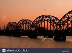 Railway Bridge In Riga At Sunset Stock Photo, Royalty Free Image: 52816108 - Alamy