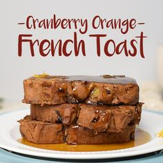 Bring on the brunch! Wake your family up with this delicious holiday-inspired french toast recipe made with Cranberry-Orange Bread and our organic coconut oil.
