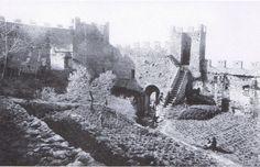 Interno del Castello di Montecchio in una cartolina d'epoca