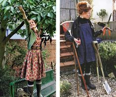 wellies and dresses. alys fowler via a pattern makers progress. {that floral one. yes}