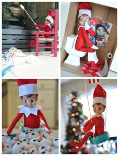 31 days of Elf on the Shelf (31 Elf Ideas) Some are naughty; since our elf is seeing if we're being good, he only does the nice/ funny ones.