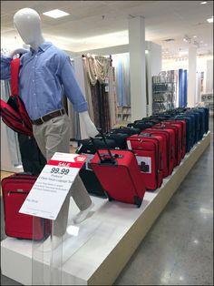 JCPenny Luggage Flight Line Mannequin Luggage Shop, Mens Luggage, Window Display Retail, Window Displays, Suitcase Display, Visual Merchandising Fashion, Retail Store Design, Retail Stores, Handbag Display