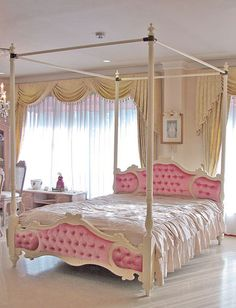 westhouse: Tension place of the velvet of the sculpture baby pink of the queen size Audrey ribbon with the import furniture order furniture Princess furniture actress bed Audrey canopy Bedroom Color Schemes, Bedroom Colors, Bedroom Decor, Bedroom Ideas, Colour Schemes, Nursery Ideas, Wall Color Combination, Pink Bedrooms, Princess Bedrooms