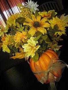 Fall center pieces on pinterest centerpieces pumpkin centerpieces