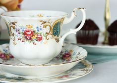 Royal Albert Berkeley tea cup, saucer and plate: elegant vintage English bone china tea set for that special tea party
