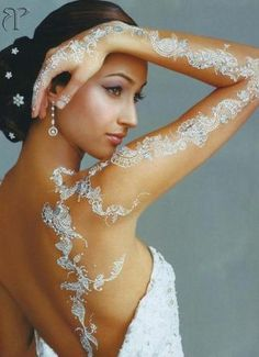 Henné blanc pour  mariage