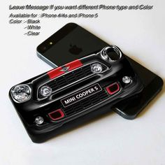 mini cooper front view iphone 5 case theyudicase. Black Bedroom Furniture Sets. Home Design Ideas
