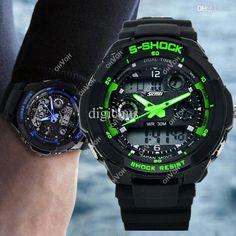 multi-Funktions-Militär-S-Shock sportuhr lED-Analog-Digital-Wasserdicht-Alarm aAACSR