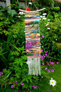 Woven Wall Art 'Marigold' Fibre Art / Wall by WallflowerWeavings