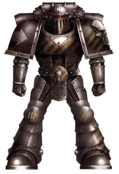 A Pre-Heresy Iron Warriors Legion Tactical Support Squad Legionary.