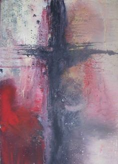 Cross painting By Debra Malinovsky, painting, abstract, art, at artisticdeb@gmail.com