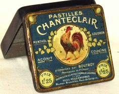French Chanteclair Rooster Bird Medical Codeïne Candy Tin 1920 en vente sur eBay.fr (fin le 20-oct.-12 21:26:34 Paris)
