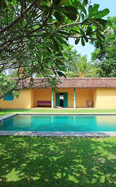 Kids will love the 9 acres of gardens and swimming pool, not to mention direct beach access to the Indian Ocean. #Indistay | The Last House, Sri Lanka