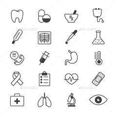 Medical and Healthcare Icons Line - Icons