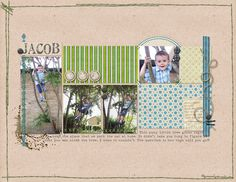 tree-climber  Photo a day 1 template set by ChrissyW and Boy oh Boy kit by Polka Dot Pixels