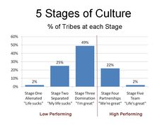 Percentage of tribes at each culture stage