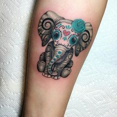 Gorgeous tattoo. .Credit: @radtattoos - . #elephant #elephants #elephantlove