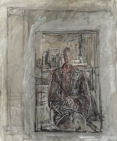 Giacometti, Alberto - Diego assis dans l'atelier - The Art Institute of Chicago