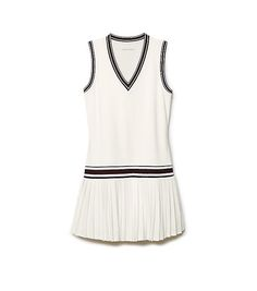 Visit Tory Burch to shop for V-neck Tennis Dress and more Womens Tennis. Find designer shoes, handbags, clothing & more of this season's latest styles from designer Tory Burch. Tennis Outfits, Tennis Wear, Tennis Skirts, Sports Skirts, Tennis Dress, Tennis Clothes, Golf Outfit, Sport Tennis, Sporty Outfits
