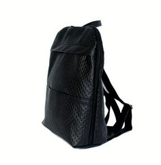 black backpack | vegan backpack| college backpack| kapitonage|laptop backpack|backpacks|a black backpack from a high quality faux leather. the bag has 6 pockets, includs a big pucket with a zipper inside the bag. suitable for 15 inch laptop and A4 notebooks. handmade by the desinger. this bag is for stylish students, teachers, and working mothers. size: 32/40 cm 12.6/15.75 inches