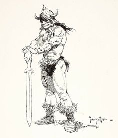Frank Frazetta's Conan the Barbarian - as accurately rendered as he will ever be!