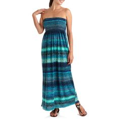 7dc84436cab9 Faded Glory - Women s Bree s Printed Planet Jersey Maxi Dress - Walmart.com