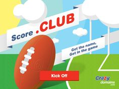 Get in the game with a new .CLUB web address! Score yours for a great price #club