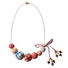 bobble and bow necklace