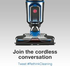Join the cordless conversation! Hoover has the trendiest innovation - a lightweight vacuum without cords! #RethinkCleaning