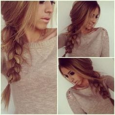 Casual Braid Hairstyle: Thick Hair http://www.jexshop.com/