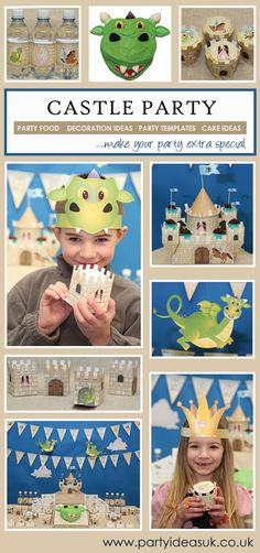 Castle party ideas are great fun for boys and girls parties
