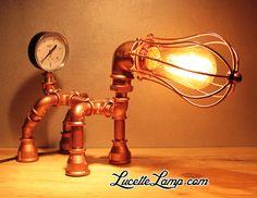 industrial pipe lamp, plomberie, dogpipe, Lampe métal Loft, lampe vintage, pipe lamp, steampunk, lampe en tuyau de fonte,  ampoule Edison,  déco industrielle, lampe cuivre, Lampe industrielle, déco atelier, lampe de table en tube acier, luminaire, décor industriel, , mobilier industriel,  raccords de tuyauterie en acier, lampe de bureau, raccords de plomberie, raccords de tuyauterie en métal, tuyau acier, Light Water Pipe, iron pipe lamp, raccord, noir, lampe à poser Lampe Steampunk, Lampe Metal, Tube Acier, Pipe Lamp, Make And Sell, Pipes, Industrial Design, Design Projects, Decoration